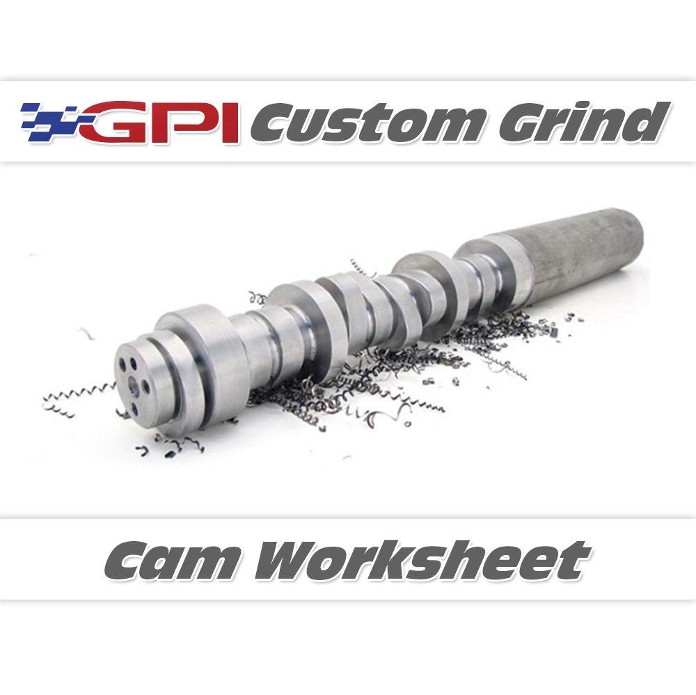 GPI - Custom Camshaft Worksheet