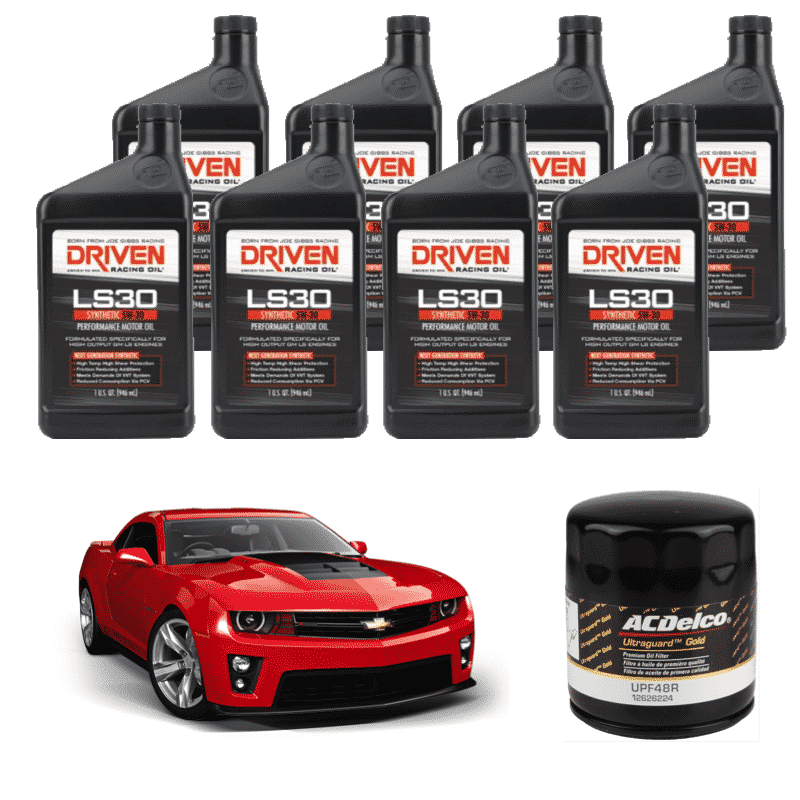 Driven Racing - Synthetic Oil Change Kit (2010-2015 Chevrolet Camaro 6 2L  LS3 / L99 / LSA / LS7)
